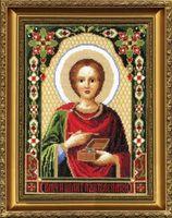 """Вышивка крестом """"Икона Великомученика Пантелеймона"""" (210х270 мм)"""