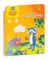 """Пластилин восковой """"Енот в лесу"""" (12 цветов)"""