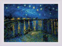 """Вышивка крестом """"Звездная ночь над Роной"""" (380х260 мм)"""