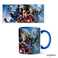 """Кружка """"Мстители из вселенной MARVEL"""" (323, голубая)"""