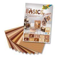 """Набор дизайнерского картона """"Базовый коричневый"""" (240х340 мм; 30 листов)"""