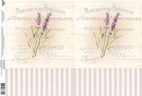 """Бумага для декупажа рисовая """"Лаванда"""" №3 (210х300 мм)"""