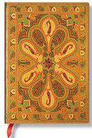 "Записная книжка Paperblanks ""Бухара Янтарь"" в линейку (формат: 130*180 мм, средний)"