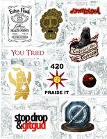 """Набор виниловых наклеек №107 """"Dark Souls"""""""
