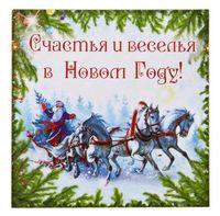 """Магнит """"Счастья и веселья в Новом году"""" (60х60 мм)"""