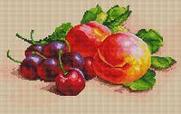 """Алмазная вышивка-мозаика """"Персики и черешня"""""""