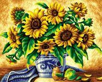 """Картина по номерам """"Ослепительные подсолнухи"""" (400х500 мм)"""
