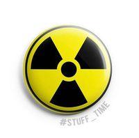 """Значок маленький """"Радиация"""" (арт. 815)"""