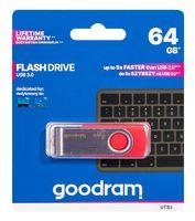 USB Flash Drive 64Gb Goodram (Red) (UTS3-0640R0R11)