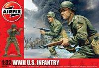 "Набор миниатюр ""WW.II Пехота США"" (масштаб: 1/32)"