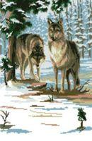 """Вышивка крестом """"Два волка"""""""
