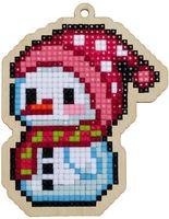 "Алмазная вышивка-мозаика ""Брелок. Маленький снеговик"" (78х100 мм)"