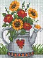 """Алмазная вышивка-мозаика """"Лейка с цветами"""""""