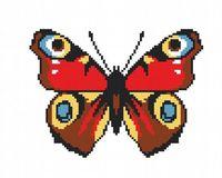 """Вышивка крестом """"Разноцветная бабочка"""""""