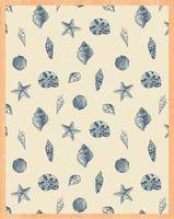 """Простыня хлопковая на резинке """"Shells"""" (90х200 см)"""