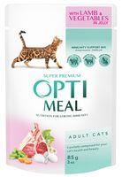 Пресервы для кошек (85 г; ягнятина и овощи в желе)