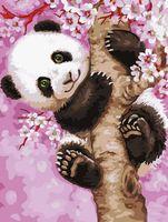 """Картина по номерам """"Малыш панды"""" (400х500 мм)"""