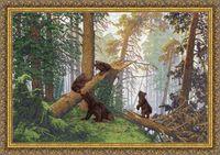 """Вышивка крестом """"Утро в сосновом лесу"""""""
