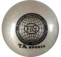 Мяч для художественной гимнастики RGB-102 (15 см; серый с блёстками)
