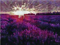 """Алмазная вышивка-мозаика """"Закат над лавандовым полем"""" (300х400 мм)"""