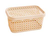 "Ящик для хранения с крышкой ""Пирула"" (9х19х13 см; латте)"
