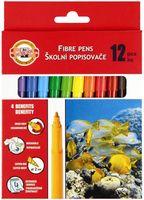 """Фломастеры """"Fibre Pens"""" (12 цветов)"""