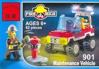 """Конструктор """"Fire Rescue. Пожарная машина с фигуркой"""" (62 детали)"""