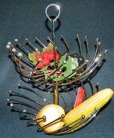 Подставка для фруктов металлическая двухъярусная (270/300х380 мм)