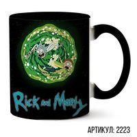 """Кружка """"Рик и Морти"""" (черная; арт. 2223)"""
