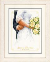 """Вышивка крестом """"Свадебный букет"""" (200x280 мм)"""