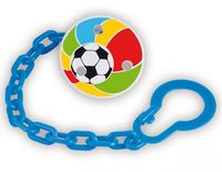 Безопасная булавка с цепочкой для пустышки (футбол)