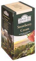 """Чай черный """"Ahmad Tea. С клубникой со сливками"""" (25 пакетиков; саше)"""