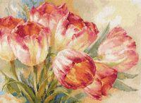 """Вышивка крестом """"Тюльпаны"""" (400х300 мм)"""