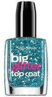 """Верхнее покрытие для ногтей """"Big glitter"""" (тон: 130, черные блестки)"""