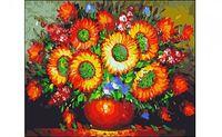 "Картина по номерам ""Букет подсолнухов"" (400x500 мм)"