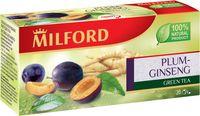 """Чай зеленый """"Milford. Слива-женьшень"""" (20 пакетиков)"""