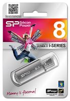 USB Flash Drive 8Gb Silicon Power Ultima II-I Series (Silver)