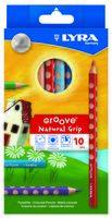 "Цветные карандаши ""GROOVE"" (10 цветов)"