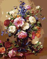 """Картина по номерам """"Розы и пионы"""" (400х500 мм)"""