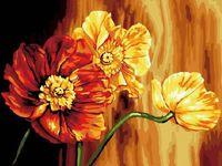 """Картина по номерам """"Знойные цветы"""" (300х400 мм)"""