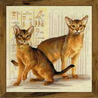 """Вышивка крестом """"Абиссинские кошки"""" (400x400 мм)"""