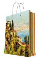 """Пакет бумажный подарочный """"Итальянский городок"""" (17,8х22,9х9,8 см; арт. 44186)"""