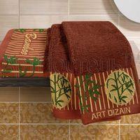 Полотенце махровое (2 шт.; коричневое)
