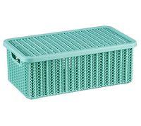 """Ящик для хранения с крышкой """"Вязание"""" (12,5x19,5x35 см; фисташковый)"""