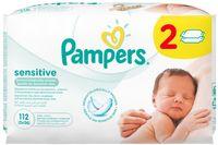 """Влажные салфетки детские """"Pampers Sensitive Duo"""" (2х56 шт.)"""