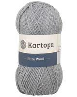 """Пряжа """"KARTOPU. Elite Wool №K1001"""" (100 г; 220 м; серый)"""