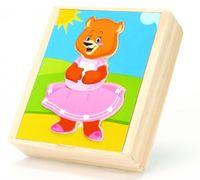 """Деревянная игрушка """"Медвежонок Катя"""""""