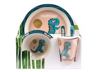 "Набор посуды ""Динозавр"" (поднос, салатник, стакан, вилка, ложка)"