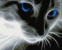 """Алмазная вышивка-мозаика """"Взгляд синих глаз"""""""