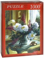 """Пазл """"Цветы на кофейном столике"""" (1000 элементов)"""